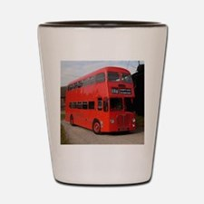 Red double decker bus Shot Glass