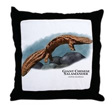 Giant Chinese Salamander Throw Pillow