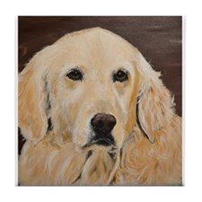 Golden Retriever Scout Tile Coaster