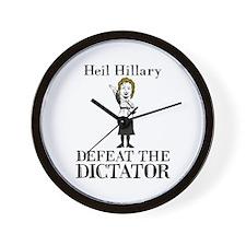 Heil Hillary Wall Clock