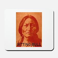 SITTING BULL (Orange) Mousepad