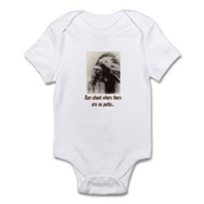 RUN WHERE THERE ARE NO PATHS... Infant Bodysuit