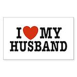 I Love My Husband Rectangle Sticker