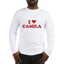 I LOVE CAMILA Long Sleeve T-Shirt
