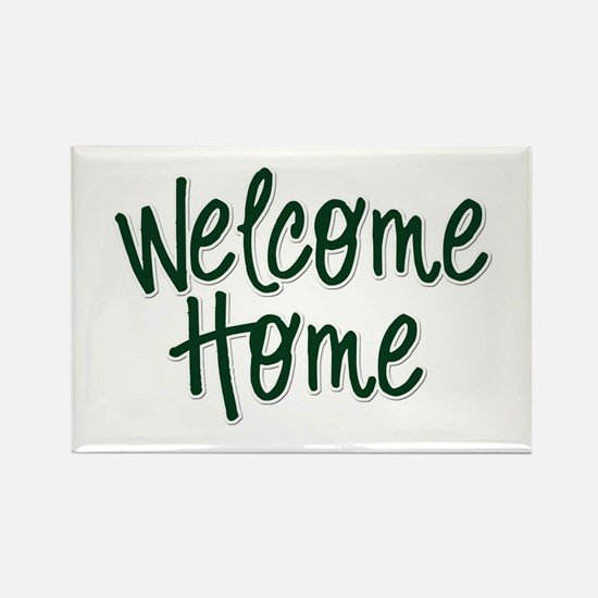Cute Welcome home Rectangle Magnet (10 pack)