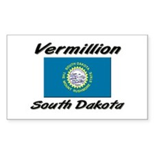 Vermillion South Dakota Rectangle Decal