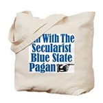 I'm With the Secularist Blue State Pagan Tote Bag
