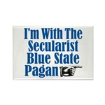 I'm With the Secularist Blue State Pagan Rectangle