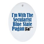 Im With the Secularist Blue State Pagan Ornament