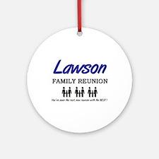 Lawson Family Reunion Ornament (Round)