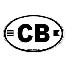 Carolina Beach Oval Decal