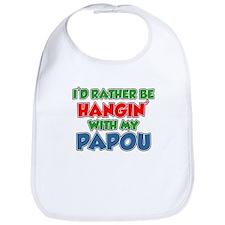 Rather Be With Papou Bib