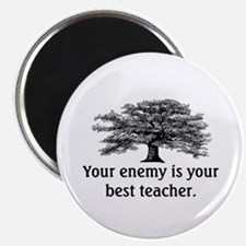 "ENEMY IS YOUR TEACHER 2.25"" Magnet (10 pack)"