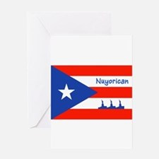 Nuyorican Statue of Liberty New Yor Greeting Cards
