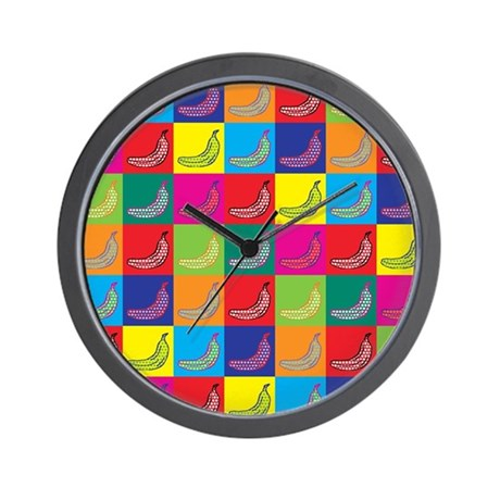 Pop Art Banana Wall Clock