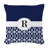 Monogram blue Woven Pillows
