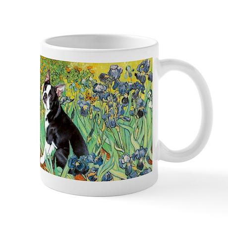 Irises & Boston Terrier Mug