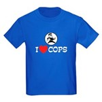 I Love Cops Kids Dark T-Shirt