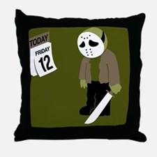 Cute Friday the 13th Throw Pillow