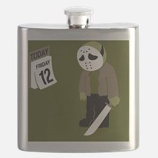 Cute Friday the 13th Flask