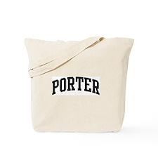 PORTER (curve-black) Tote Bag