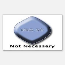 No Blue Pill Sticker (Rect.)