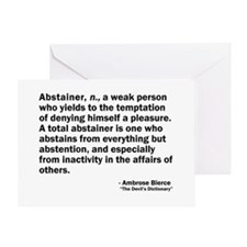 Abstainer Greeting Card