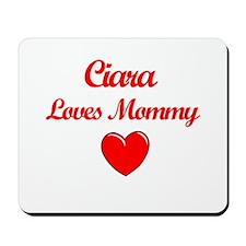 Ciara Loves Mommy Mousepad