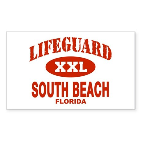 Lifeguard South Beach Rectangle Sticker