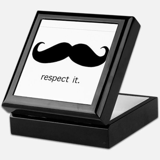 Respect the 'Stache Keepsake Box