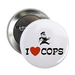 I Love Cops Button