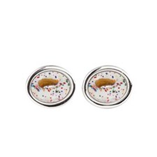 Funny Hipster Oval Cufflinks