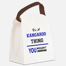 Cute Kangaroo Canvas Lunch Bag