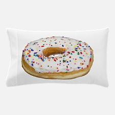 white rainbow sprinkles donut photo Pillow Case