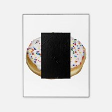 white rainbow sprinkles donut photo Picture Frame