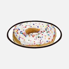 white rainbow sprinkles donut photo Patches