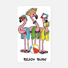 Flamingo Beach Bums Decal