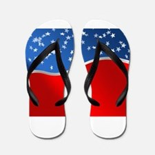 abstract american flag Flip Flops