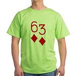 63 Diamonds Trey Poker Green T-Shirt
