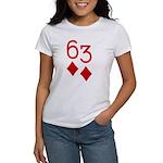 63 Diamonds Trey Poker Women's T-Shirt