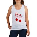 63 Diamonds Trey Poker Women's Tank Top