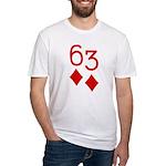 63 Diamonds Trey Poker Fitted T-Shirt