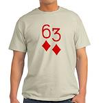63 Diamonds Trey Poker Light T-Shirt