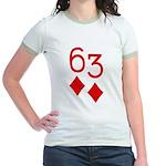 63 Diamonds Trey Poker Jr. Ringer T-Shirt