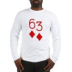 63 Diamonds Trey Poker Long Sleeve T-Shirt