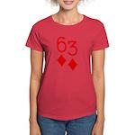 63 Diamonds Trey Poker Women's Dark T-Shirt
