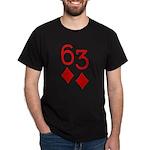 63 Diamonds Trey Poker Dark T-Shirt