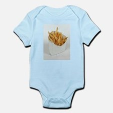 white minimalist fast food french fries Body Suit