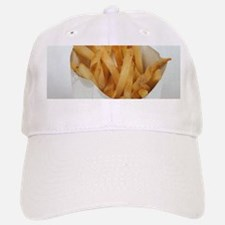 white minimalist fast food french fries photo Baseball Baseball Cap