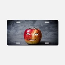 Cute Red john smiley face Aluminum License Plate